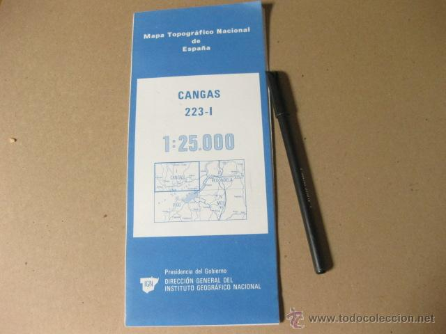 MAPA TOPOGRAFICO NACIONAL DE ESPAÑA - INSTITUTO GEOGRAFICO NACIONAL - 1979 CANGAS (Coleccionismo - Mapas - Mapas actuales (desde siglo XIX))