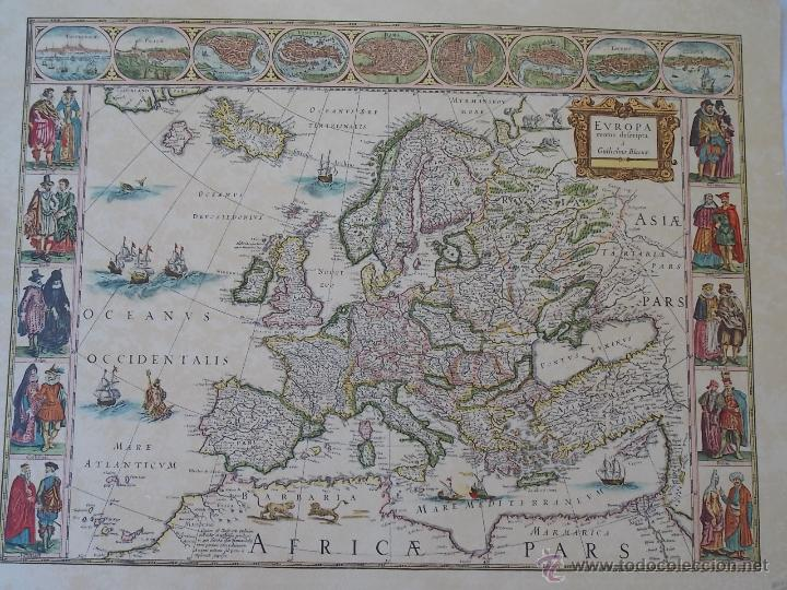 lamina mapamundi antiguo europa  Comprar Mapas contemporneos en