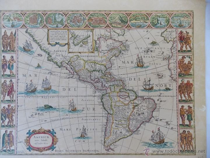lamina mapamundi antiguo america  Comprar Mapas contemporneos en