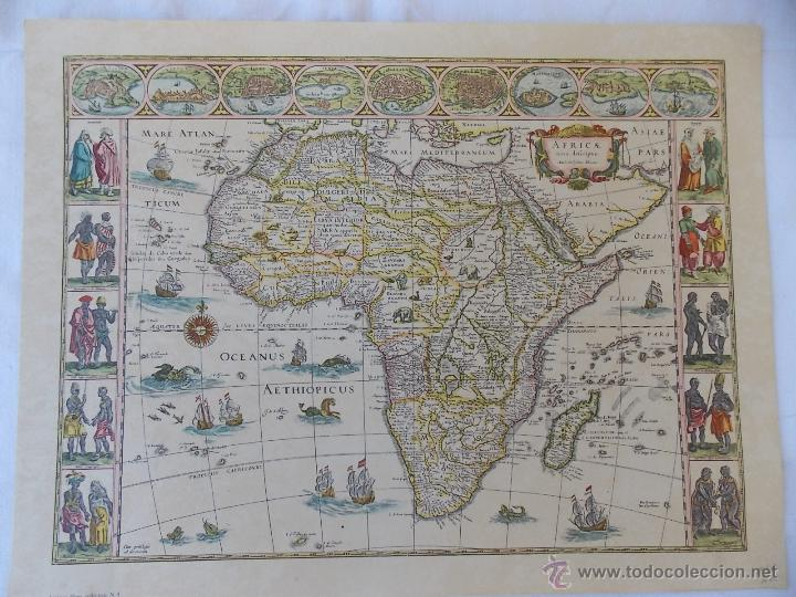 lamina mapamundi antiguo africa  Comprar Mapas contemporneos en