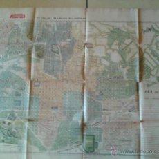 Mapas contemporáneos: PLANO DE BARCELONA ALMACENES ALEMANES - 1930 - MEDIDAS 92 X 65. Lote 49438125