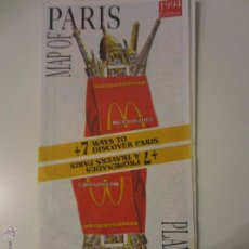 Mapas contemporáneos - PARIS MAPA PLANO TURISTICO METRO AÑOS 90 - 49443212