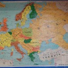 Mapas contemporáneos: ANTIGUO MAPA DE EUROPA POLITICO - MAPA ESCOLAR - AÑO 1972 - EDITORIAL SEIX BARRAL ( BARCELONA). Lote 49513139