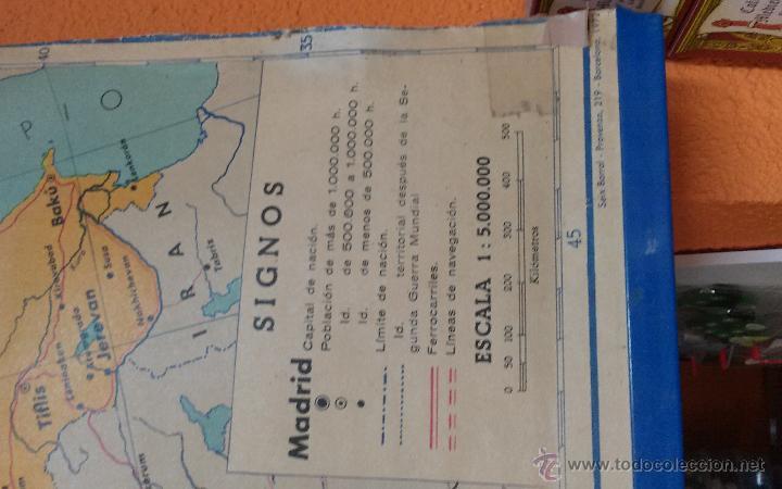 Mapas contemporáneos: ANTIGUO MAPA DE EUROPA POLITICO - MAPA ESCOLAR - AÑO 1972 - EDITORIAL SEIX BARRAL ( BARCELONA) - Foto 2 - 49513139