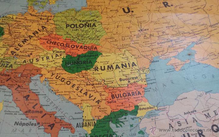 Mapas contemporáneos: ANTIGUO MAPA DE EUROPA POLITICO - MAPA ESCOLAR - AÑO 1972 - EDITORIAL SEIX BARRAL ( BARCELONA) - Foto 3 - 49513139