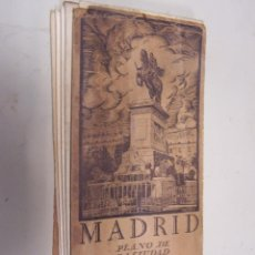 Mapas contemporáneos: CALLEJERO DE MADRID PLEGABLE.PLANO DE MADRID ÉPOCA 2ª REPUBLICA. DIMENSIONES DESPLEGADO: 80 X 112 CM. Lote 49640587