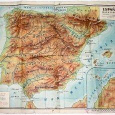 Mapas contemporáneos: MAPA FISICO ESPAÑA. AÑO 1959. LIBRERIA Y CASA EDITORIAL HERNANDO. MADRID. Lote 269587928