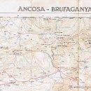 Mapas contemporáneos: MAPA EXCURSIONISTA ATLAS MONTAÑERO ANCOSA - BRUFAGANYA. Lote 160508942