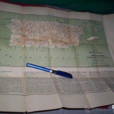 Mapas contemporáneos: PRECIOSO MAPA PUERTO RICO ESPAÑOL 1870-80 EMILIO VALVERDE PROVINCIAS DE ESPAÑA. Lote 49759113