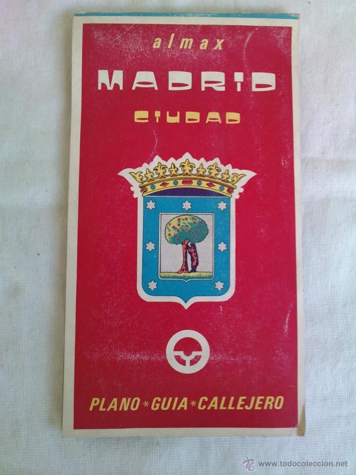 PLANO GUIA CALLEJERO DE MADRID CIUDAD - ALMAX - AÑO 1985 (Coleccionismo - Mapas - Mapas actuales (desde siglo XIX))