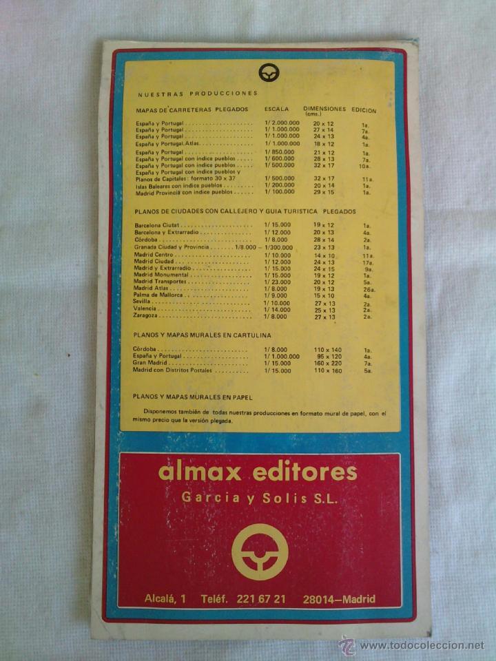 Mapas contemporáneos: Plano Guia Callejero de Madrid Ciudad - Almax - Año 1985 - Foto 2 - 49828369