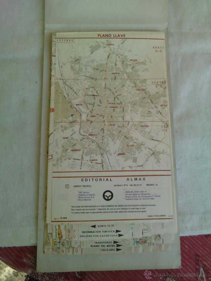 Mapas contemporáneos: Plano Guia Callejero de Madrid Ciudad - Almax - Año 1985 - Foto 4 - 49828369