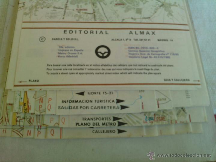 Mapas contemporáneos: Plano Guia Callejero de Madrid Ciudad - Almax - Año 1985 - Foto 5 - 49828369