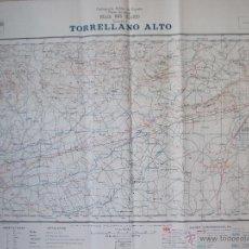 Mapas contemporáneos: FABULOSA CARTOGRAFIA MILITAR DE TORRELLANO ALTO , ELCHE , ALICANTE 1959 -1962 .. Lote 49920325
