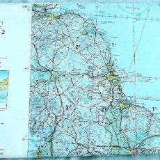 Mapas contemporáneos: CARTA NAVEGACIÓN AEREA EUROPA CENTRAL. Lote 50081037