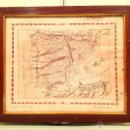 Mapas contemporáneos: ANTIGUO MAPA DE ESPAÑA DE 1907 ENMARCADO FIRMADO. Lote 50459472