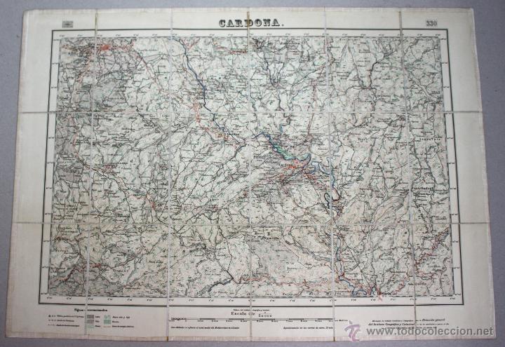 Mapa Topografico Entelado Instituto Geografico Sold Through