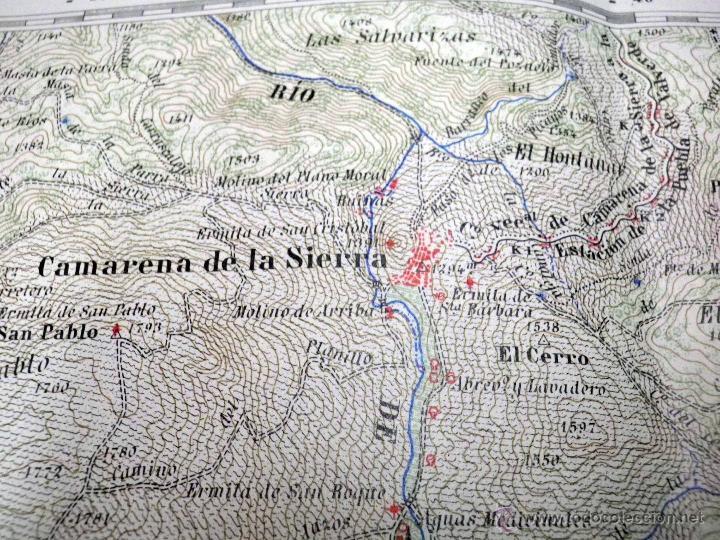 Sierra De Javalambre Mapa.Antiguo Mapa Pcia Teruel Camarena De La Sierra Javalambre Instituto Geografico Y Catastral 1925