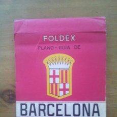 Mapas contemporáneos: MAPA FOLDEX PLANO GUIA DE BARCELONA 1967. Lote 50659200