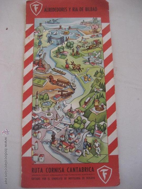 Mapa Bilbao Y Alrededores.Bilbao Y Alrededores Editado Sindicato De Hosteleria De Vizcaya