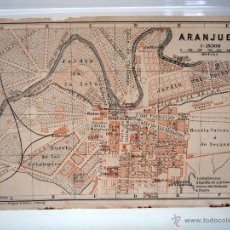 Mapas contemporáneos - año 1900 Antiguo mapa plano Aranjuez - Wagner & Debes - 51143621