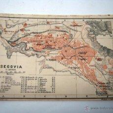 Mapas contemporáneos - año 1900 Antiguo mapa plano Segovia - Wagner & Debes - 51143715