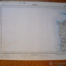 Mapas contemporáneos: MAPA DE OYA 2ª EDICION EN 1953 VARIAS TINTAS 50X70 CMS. Lote 51494982