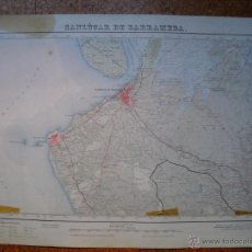 Mapas contemporáneos: MAPA DE SANLUCAR DE BARRAMEDA 2ª EDICION EN 1955 VARIAS TINTAS 50X70 CMS. Lote 51495179
