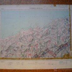 Mapas contemporáneos: MAPA DE TORRELAVEGA 3ª EDICIÓN DEL MTN 50X70 CMS. Lote 51500299