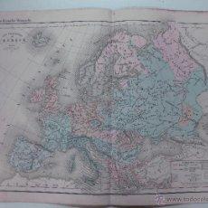 Mapas contemporáneos: MAPA DE LOS PUEBLOS DE EUROPA DEL ATLAS GROSSELIN - DELAMARCHE 1876. 48 X 34 CM. LITOGRAFIA.. Lote 51575425