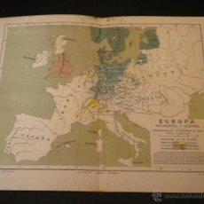 Mapas contemporáneos: MAPA EUROPA OCCIDENTAL Y CENTRAL. Lote 51667380