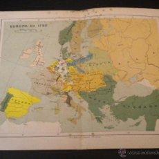 Mapas contemporáneos: MAPA EUROPA EN 1792. Lote 51667646