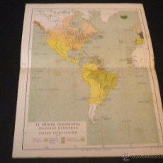 Mapas contemporáneos: MAPA EL MUNDO OCCIDENTAL COLONIAS EUROPEAS Y PAISES TRIBUTARIOS 1815. Lote 51669823