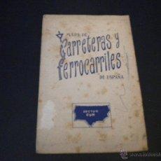 Mapas contemporáneos: MAPA CARRETERAS Y FERROCARRILES DE ESPAÑA . Lote 51688658