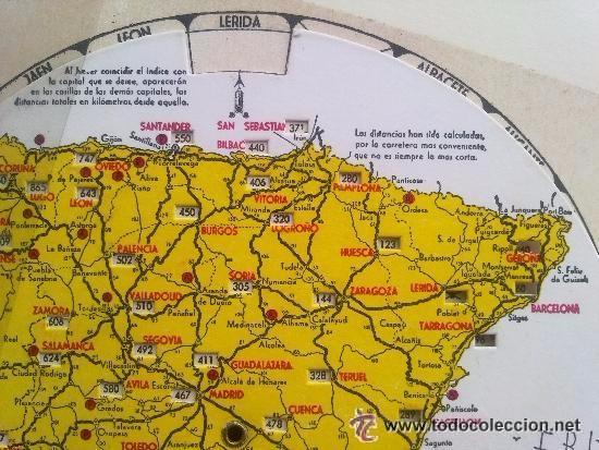Mapa Principales Carreteras Espana Discos Gira Sold At Auction