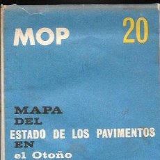 Cartes géographiques contemporaines: MAPA DEL ESTADO DE LOS PAVIMENTOS EN OTOÑO 1963. Lote 51741613