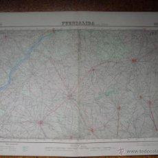 Mapas contemporáneos: MAPA DE FUENSALIDA DEL INSTITUTO GEOGRAFICO E 1:50000 VARIAS TINTAS 2ª EDICION 1944. Lote 51766867