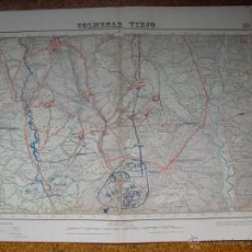 Mapas contemporáneos: MAPA DE COLMENAR VIEJO DEL INSTITUTO GEOGRAFICO E 1:50000 VARIAS TINTAS 3ª EDICION 1947. Lote 51767031