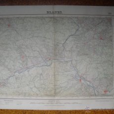 Mapas contemporáneos: MAPA DE BLANES DEL INSTITUTO GEOGRAFICO E 1:50000 VARIAS TINTAS 1ª EDICION 1941. Lote 51767286
