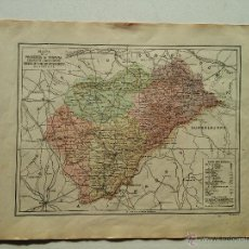 Mapas contemporáneos: MAPA PROVINCIA SEGOVIA - PUBLIC, BAILLY-BAILLIERE Y RIERA - SIGNOS CONVENCIONALES - HISTORIA ETC. . Lote 51775023