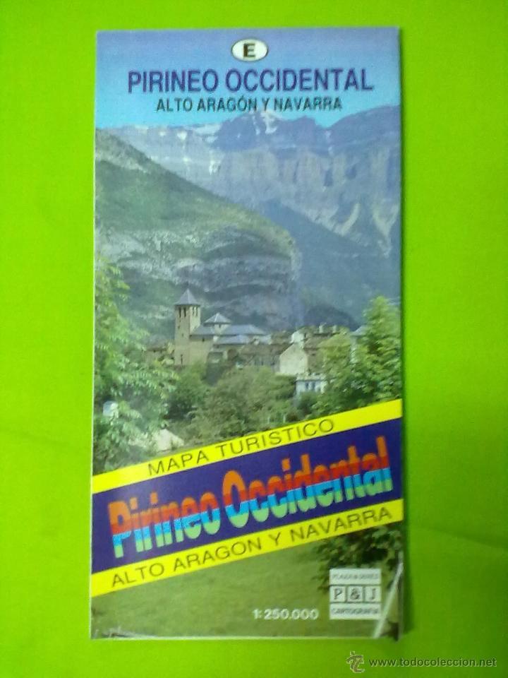 PIRINEO OCCIDENTAL ALTO ARAGON Y NAVARRA MAPA TURISTICO (Coleccionismo - Mapas - Mapas actuales (desde siglo XIX))