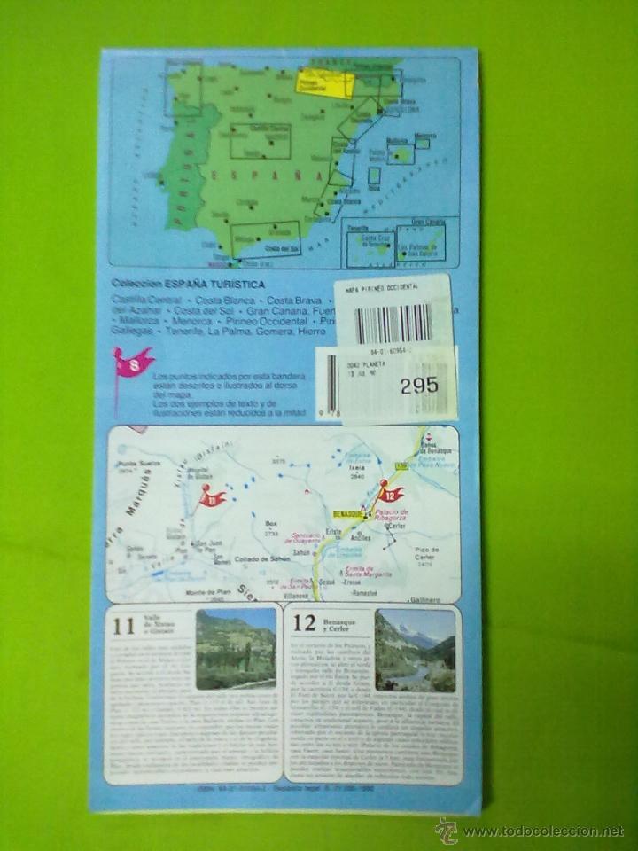 Mapas contemporáneos: PIRINEO OCCIDENTAL ALTO ARAGON Y NAVARRA MAPA TURISTICO - Foto 2 - 51856688
