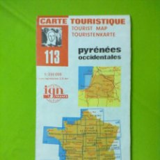 Mapas contemporáneos: MAPA TURISTICO PIRINEOS OCCIDENTALES I G N. Lote 51859200