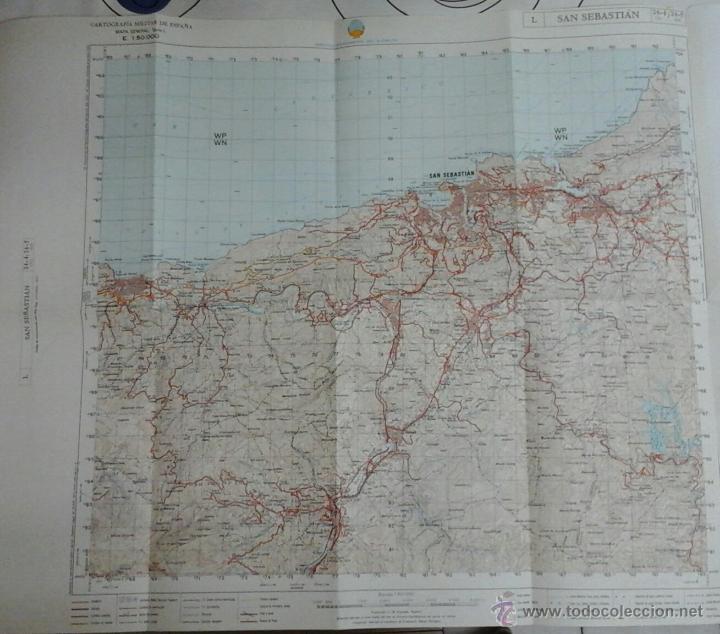 San Sebastian España Mapa.San Sebastian Cartografia Militar De Espana