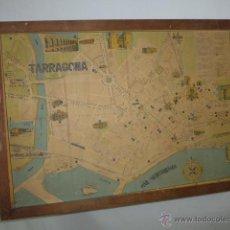 Mapas contemporáneos: ANTIGUO MAPA DE TARRAGONA, ENMARCADO. Lote 52170171