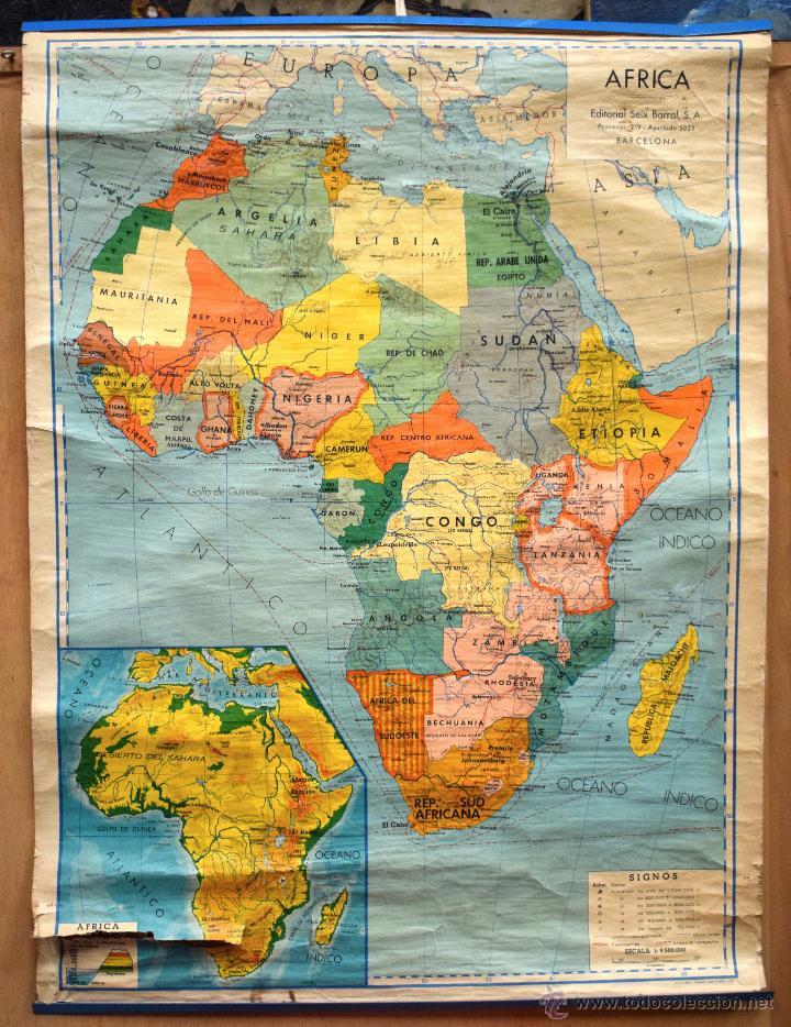 Mapa Africa Fisico Editorial Seix Barral Sa Bar Sold Through