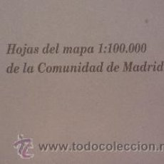 Mapas contemporáneos: HOJAS DEL MAPA 1:100.000 DE LA COMUNIDAD DE MADRID. 4 MAPAS EN CARPETA. Lote 52485169