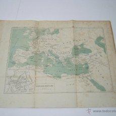 Mapas contemporáneos: MAPA EUROPA IMPERIO ROMANO Y PLANO DE ROMA. Lote 150022546