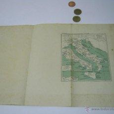 Mapas contemporáneos: ANTIGUO MAPA ITALIA LACIO. Lote 52562488