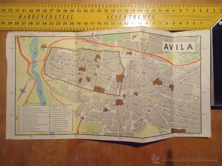 Mapa Turistico De Avila.1973 Antiguo Mapa Turistico De Avila 30 5 Cm